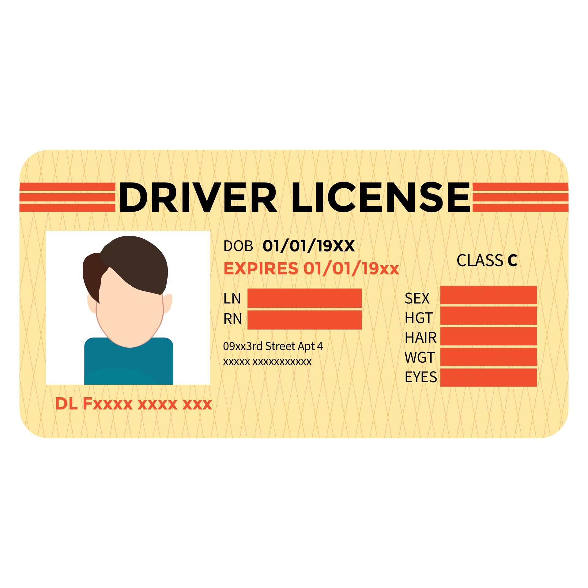 Driver License ID Templates