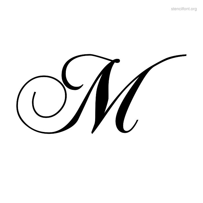 5 Best Images of Fancy Letter M Stencil Printable - Free ...