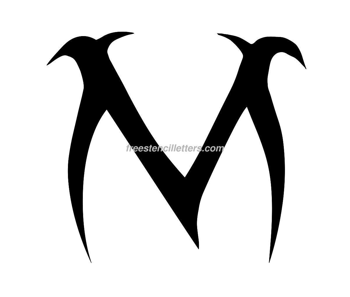 Worksheet Cursive Letter M 5 best images of fancy letter m stencil printable free stencil