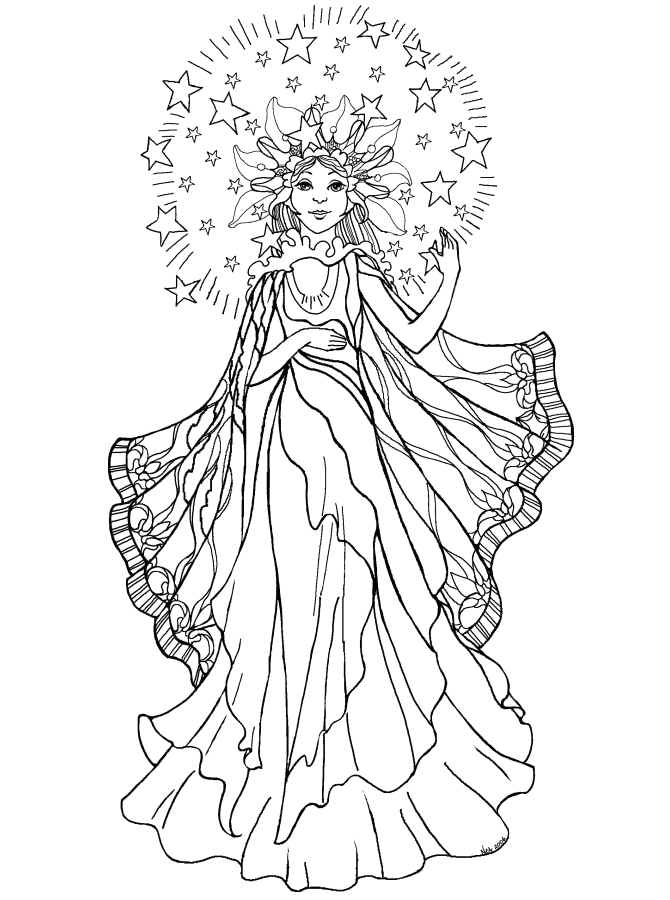 5 Images of Free Printable Adults Coloring Pages Angel