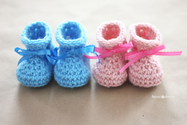 7 Images of Printable Baby Bootie Crochet Pattern