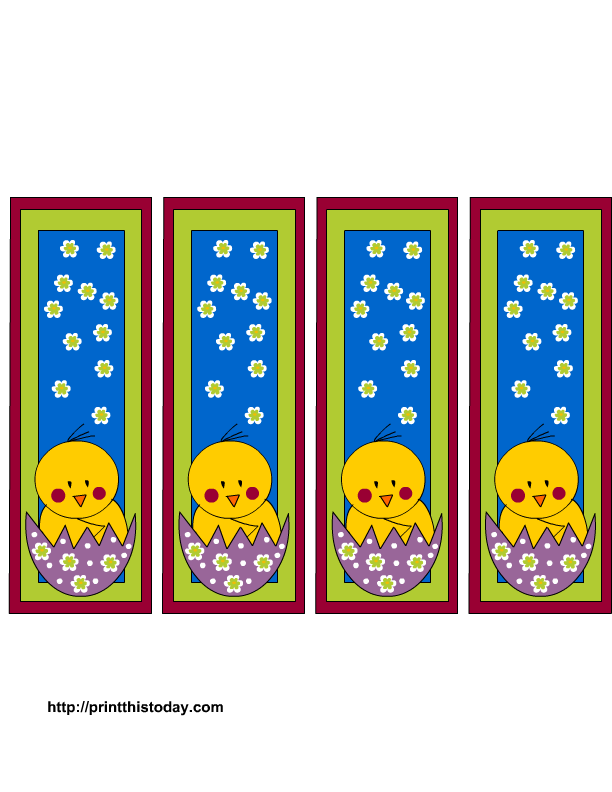 5 Images of Free Printable Easter Bookmarks