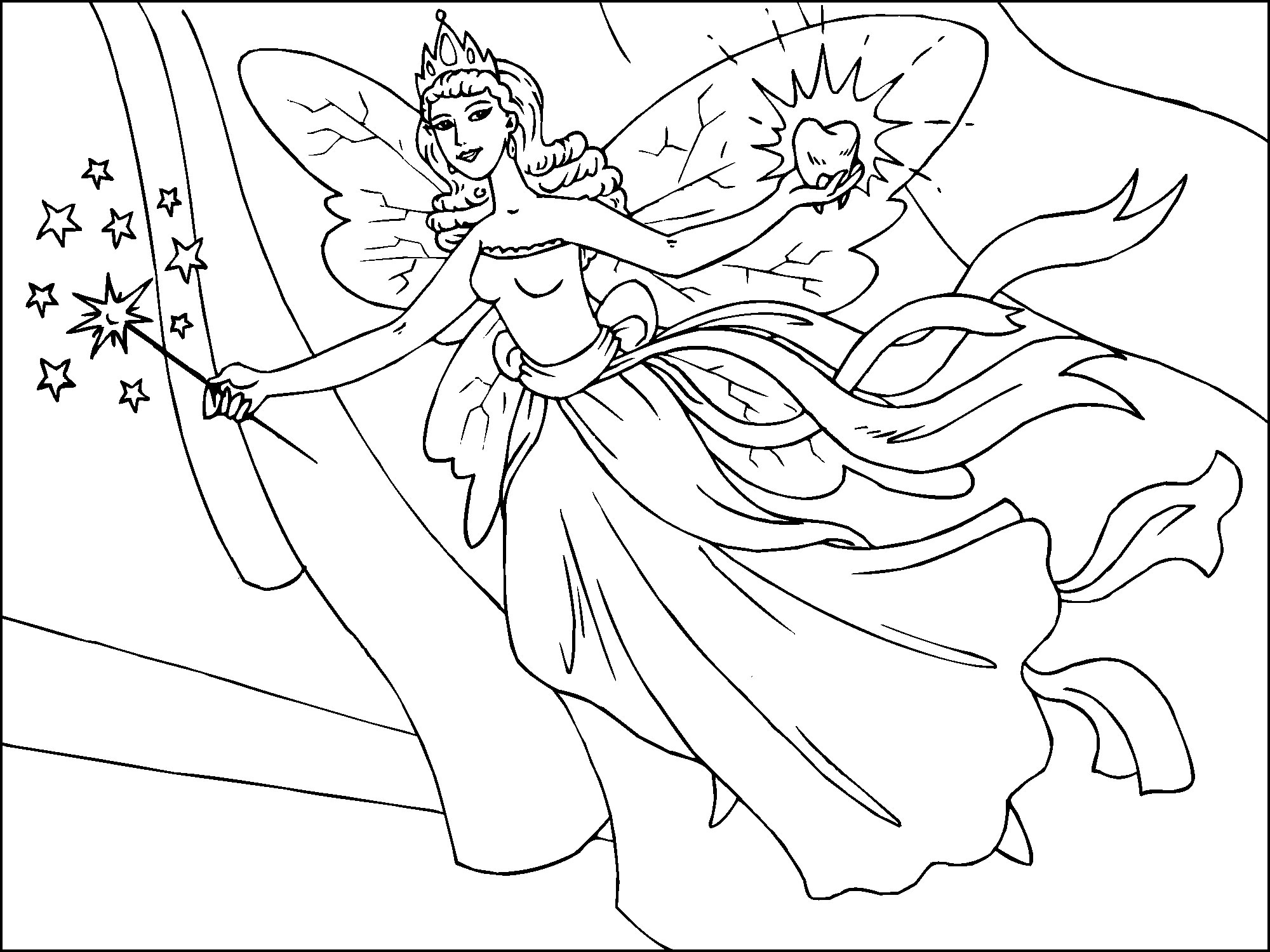 7 Images of Free Printable Coloring Pages Of Fairies