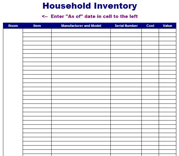 8 Images of Printable Inventory Template