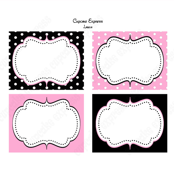 Free Minnie Mouse Food Labels