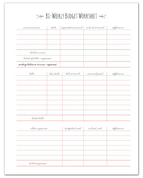 7 best images of printable paycheck budget free printable paycheck budget printable bi weekly. Black Bedroom Furniture Sets. Home Design Ideas