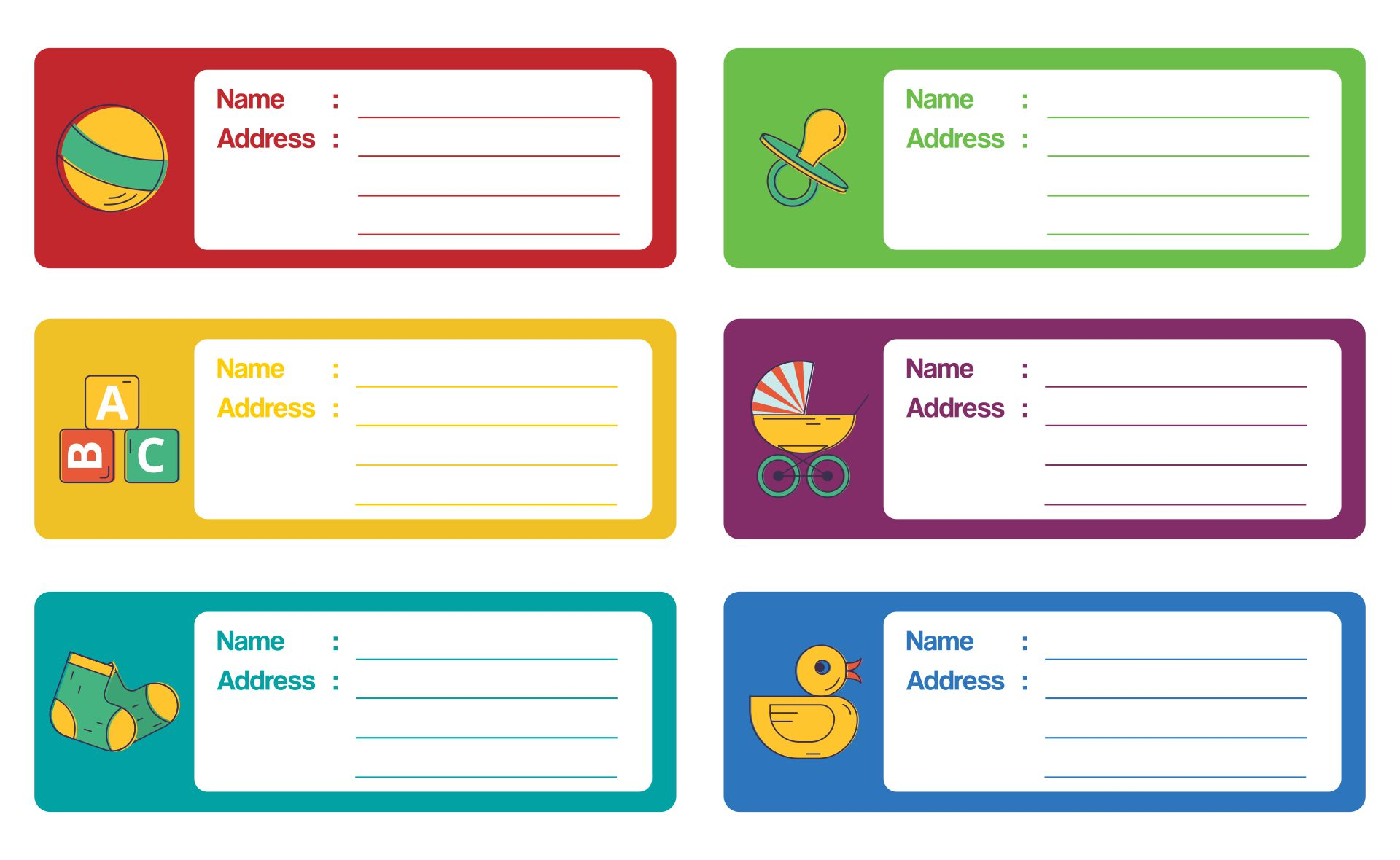 Free Printable Address Label Template