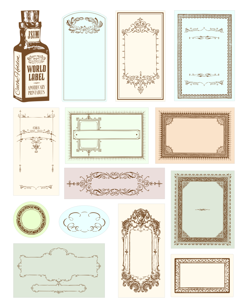 Printable Apothecary Bottle Labels