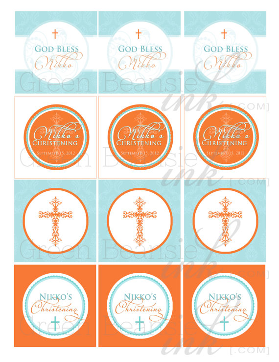 4 Images of Free Printable Cupcake Toppers For Baptism