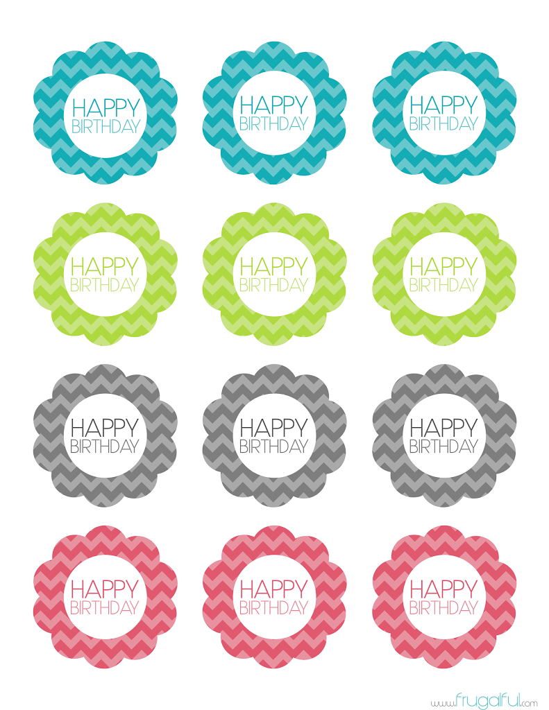 6 Images of Printable Cupcake Toppers Template