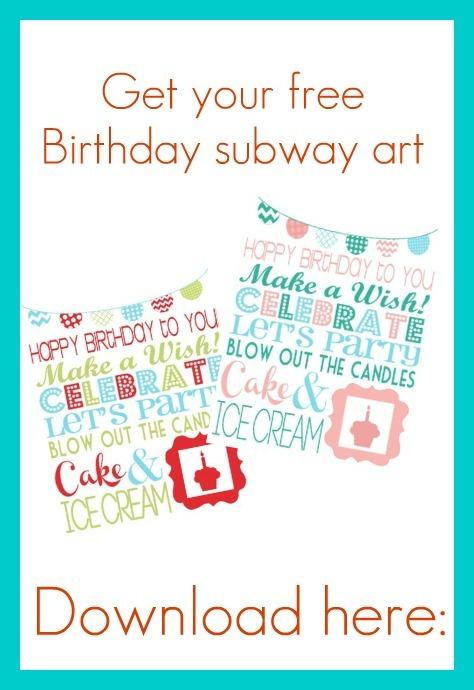 Free Printable Birthday Subway Art