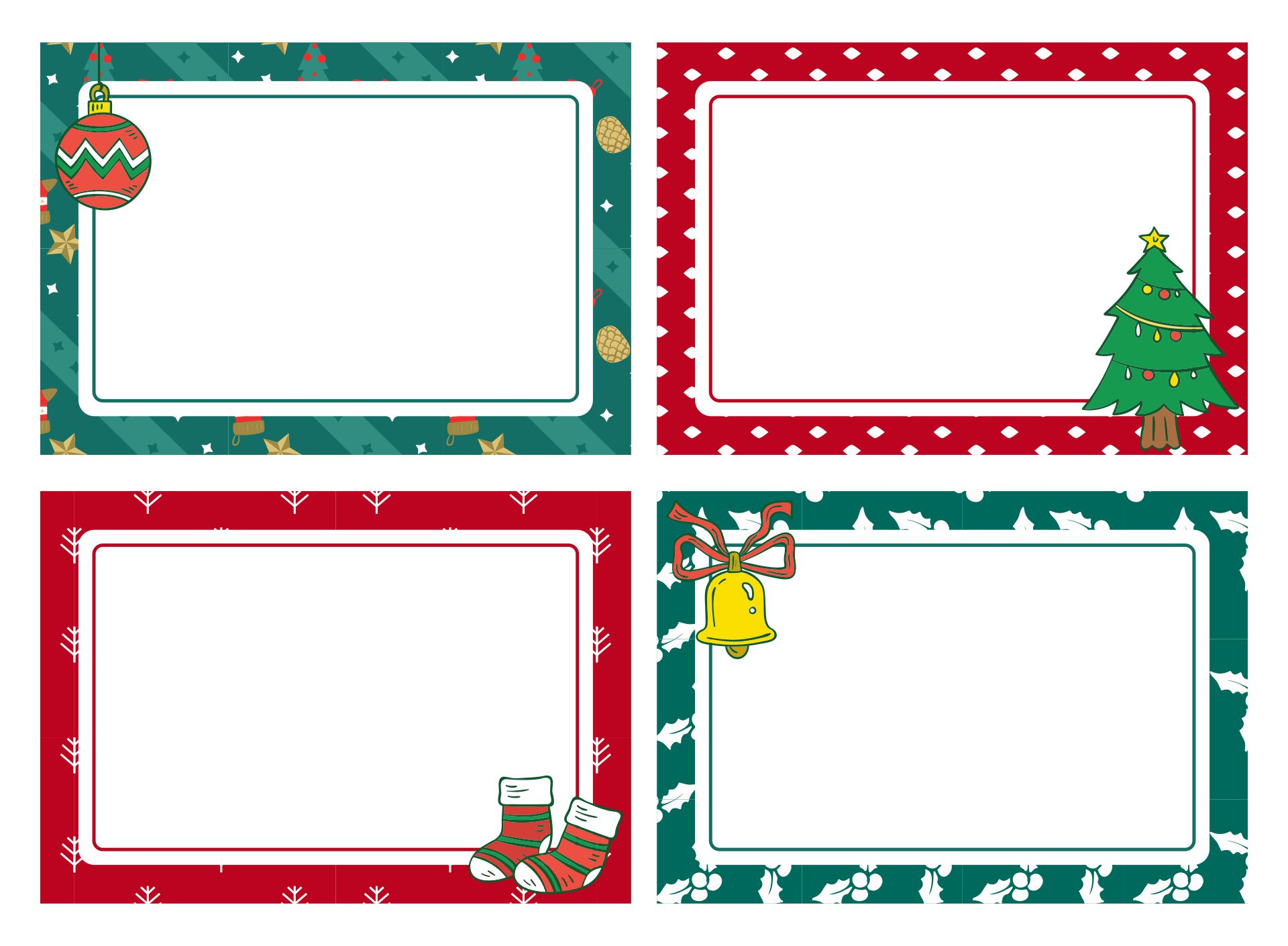 Printable Blank Christmas Labels
