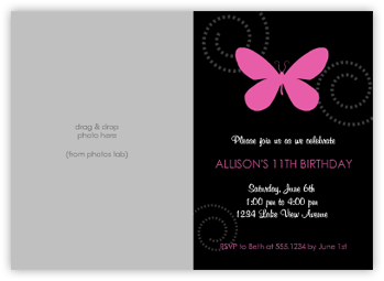 7 Images of Butterfly Birthday Printable Cards