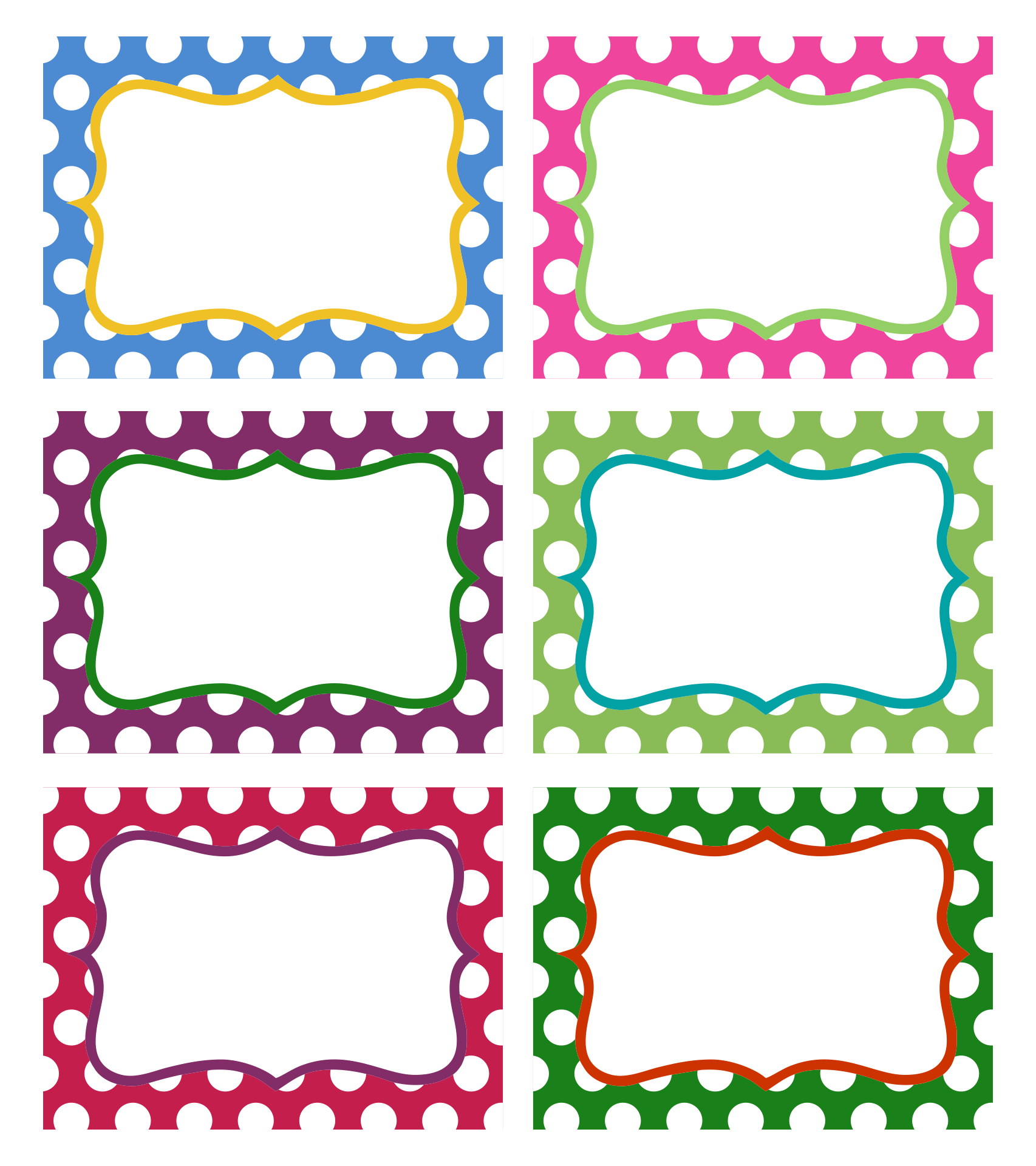 Printable Candy Label Templates