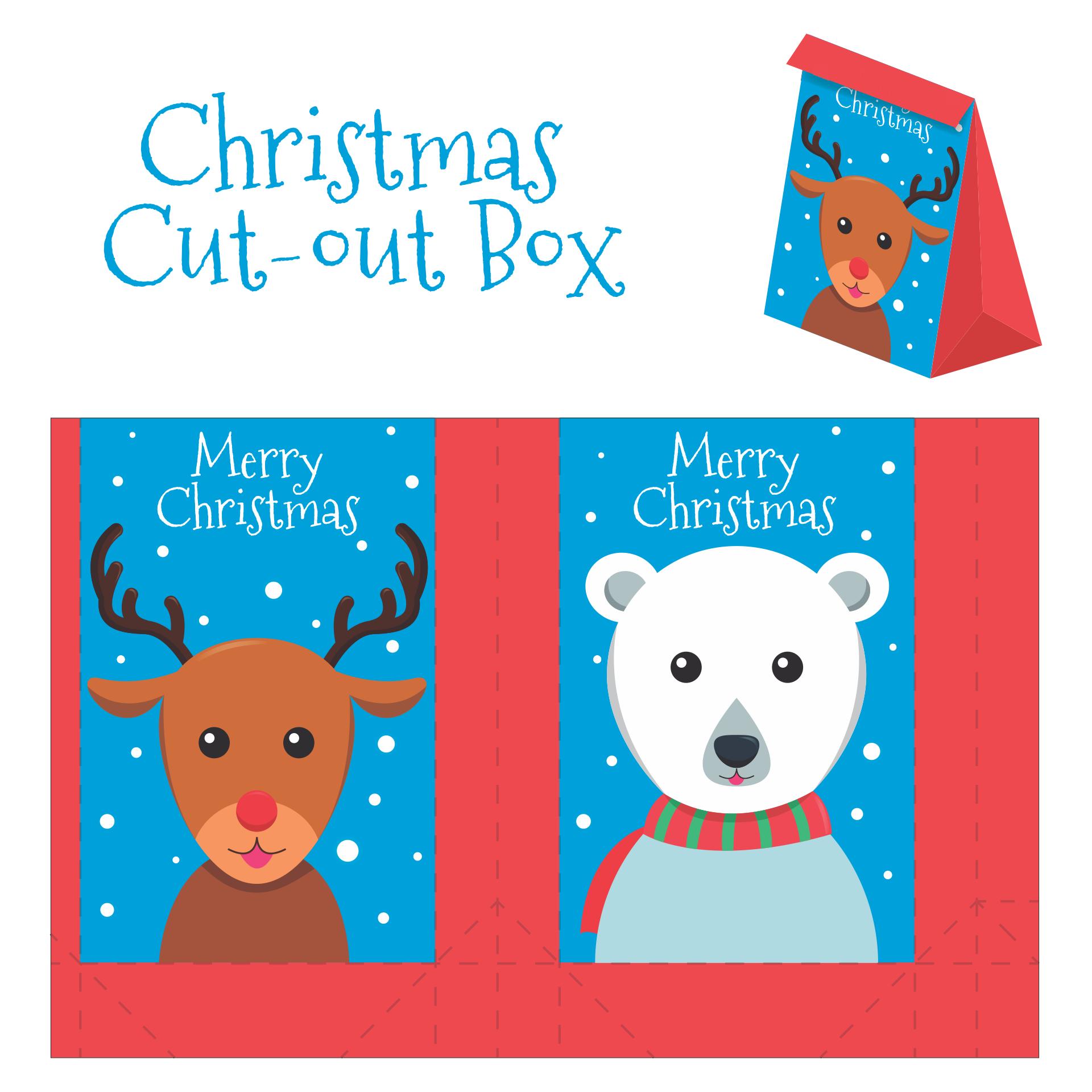 5 Images of Christmas Box Template Printable