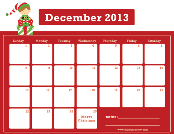 Christmas Calendar 2014 : Best images of printable christmas calendar free