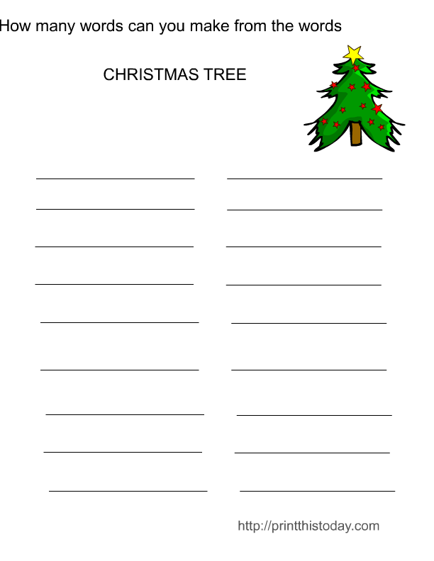 Free Printable Christmas Word Scramble Game