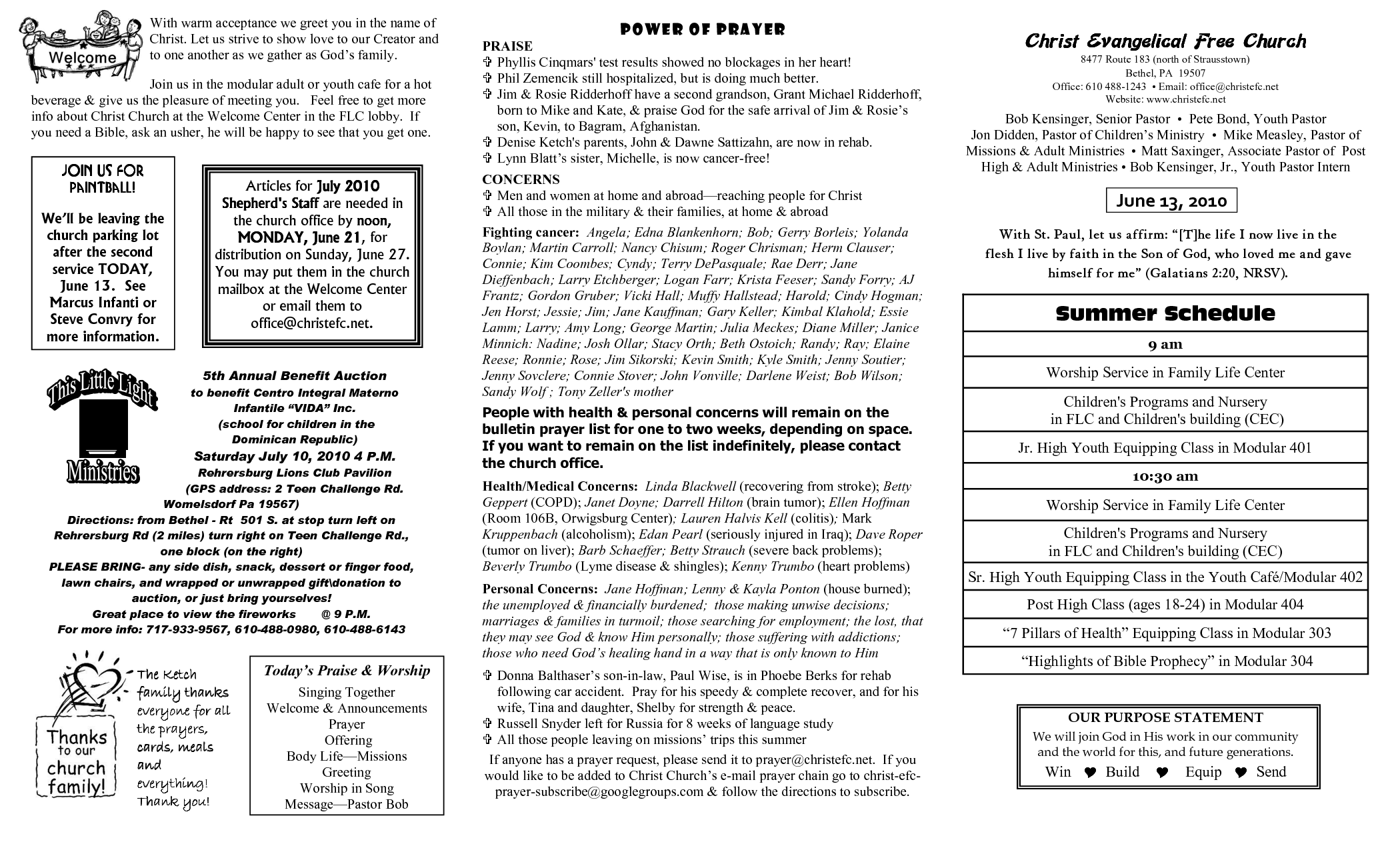 sample church bulletins templates - 8 best images of church bulletin templates free printable