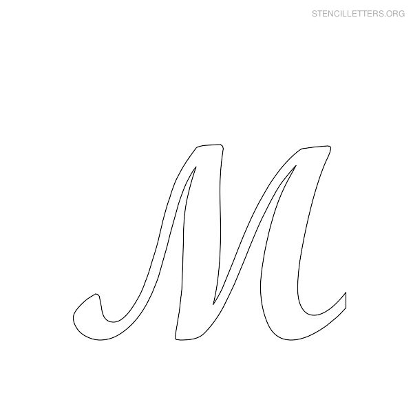 5 Images of Fancy Letter M Stencil Printable
