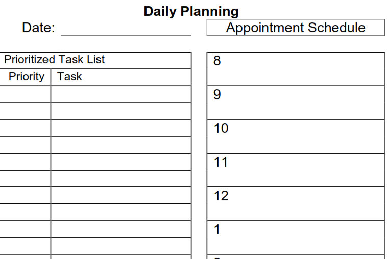 Printable Daily Planner Pdf 9 best images of daily planner pdf ...