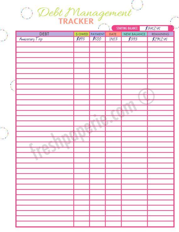 Debt elimination worksheet pdf