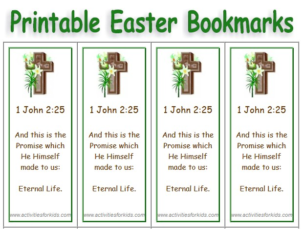 Free Printable Easter Bookmarks Religious