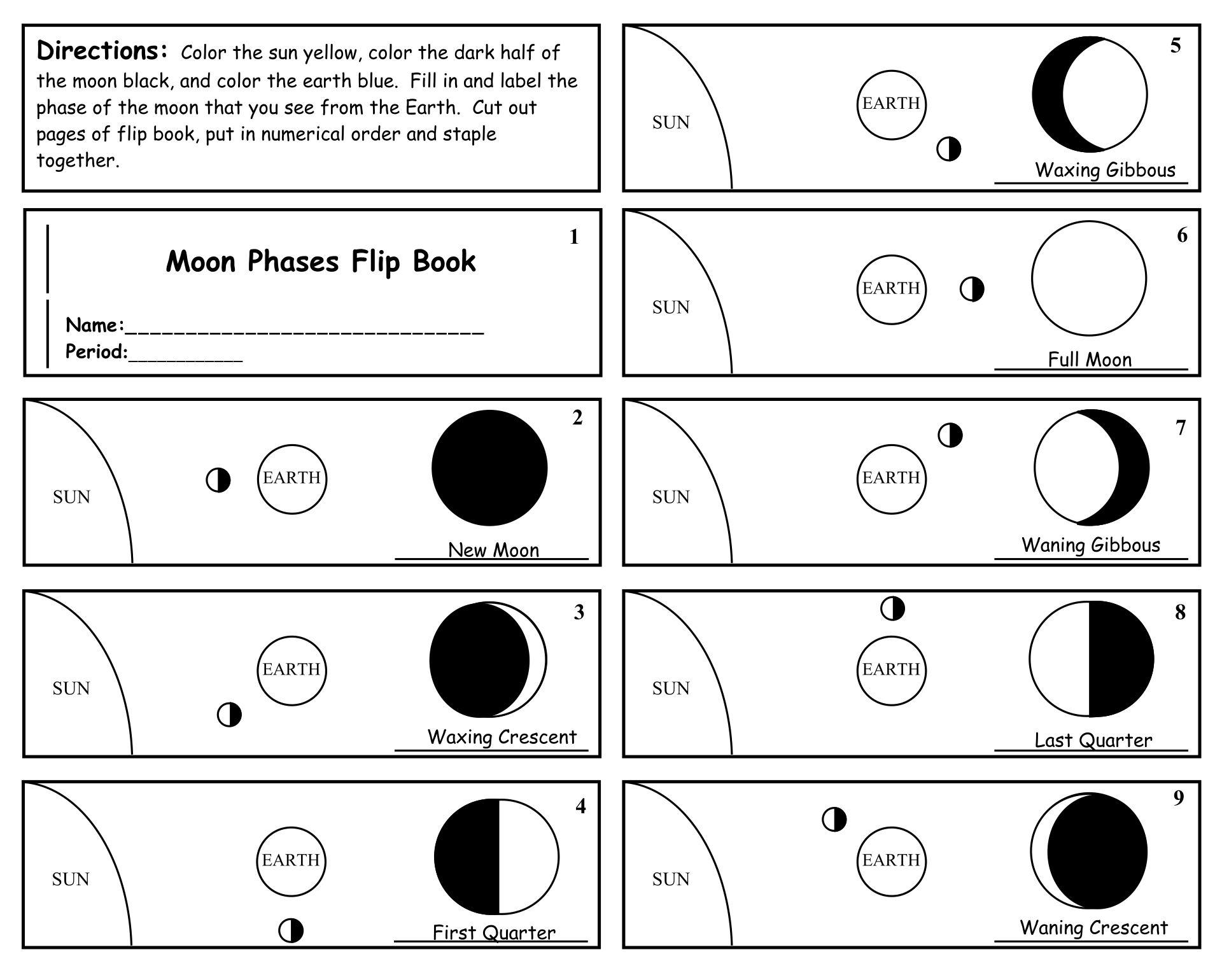 Printable Flip Book Template