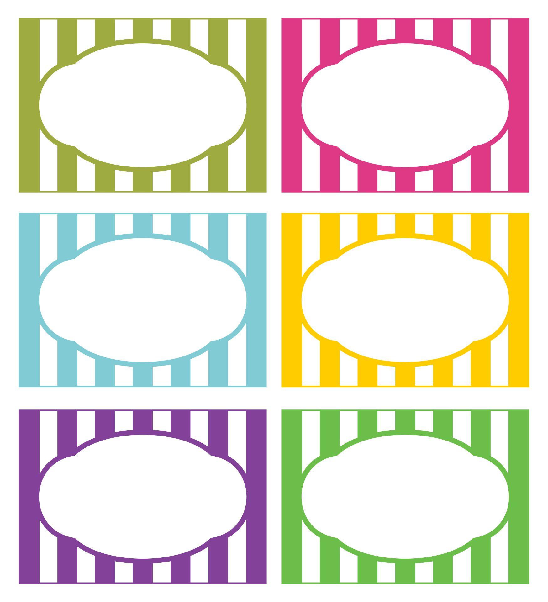Printable Food Label Templates