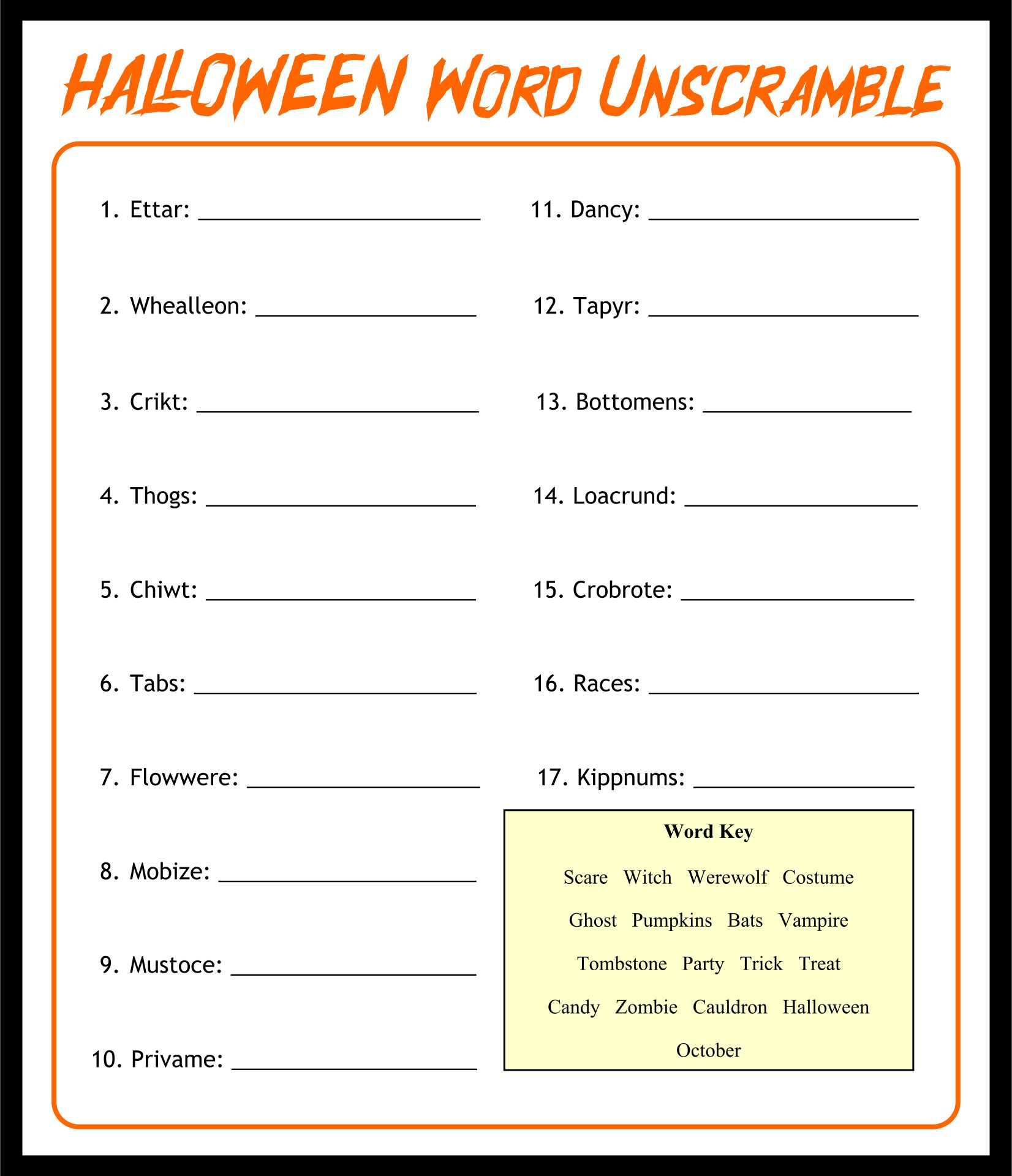 Fun Activity Worksheets For Adults : Best images of halloween activities for adults