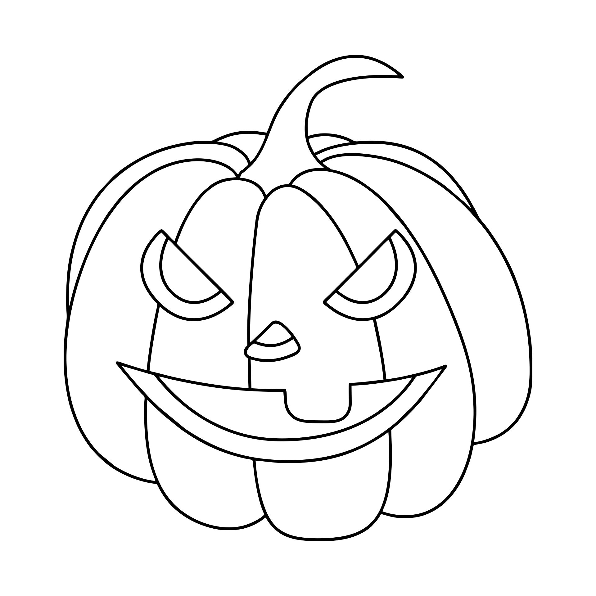 Printable Halloween Pumpkin Coloring Template