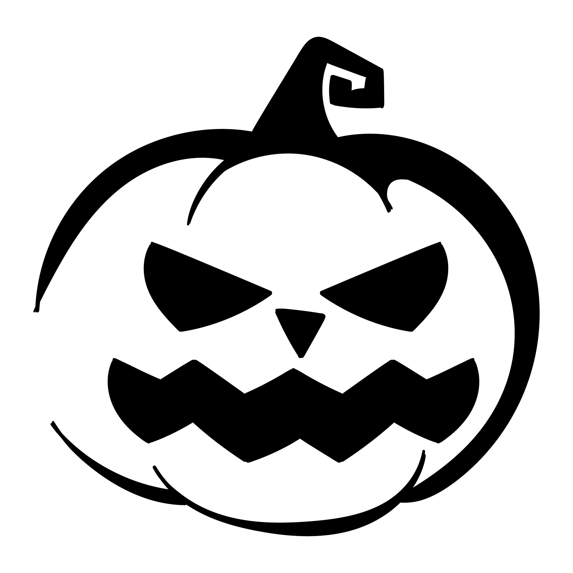 7 best images of printable halloween templates and for Pumpkin templates free printable