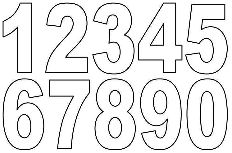 7 Images of Printable Bubble Numbers 0-10