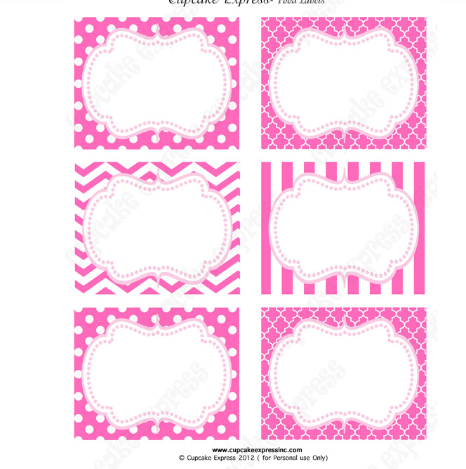 Free Printable Princess Labels