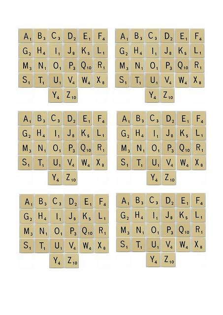 6 Images of Printable Word Tiles