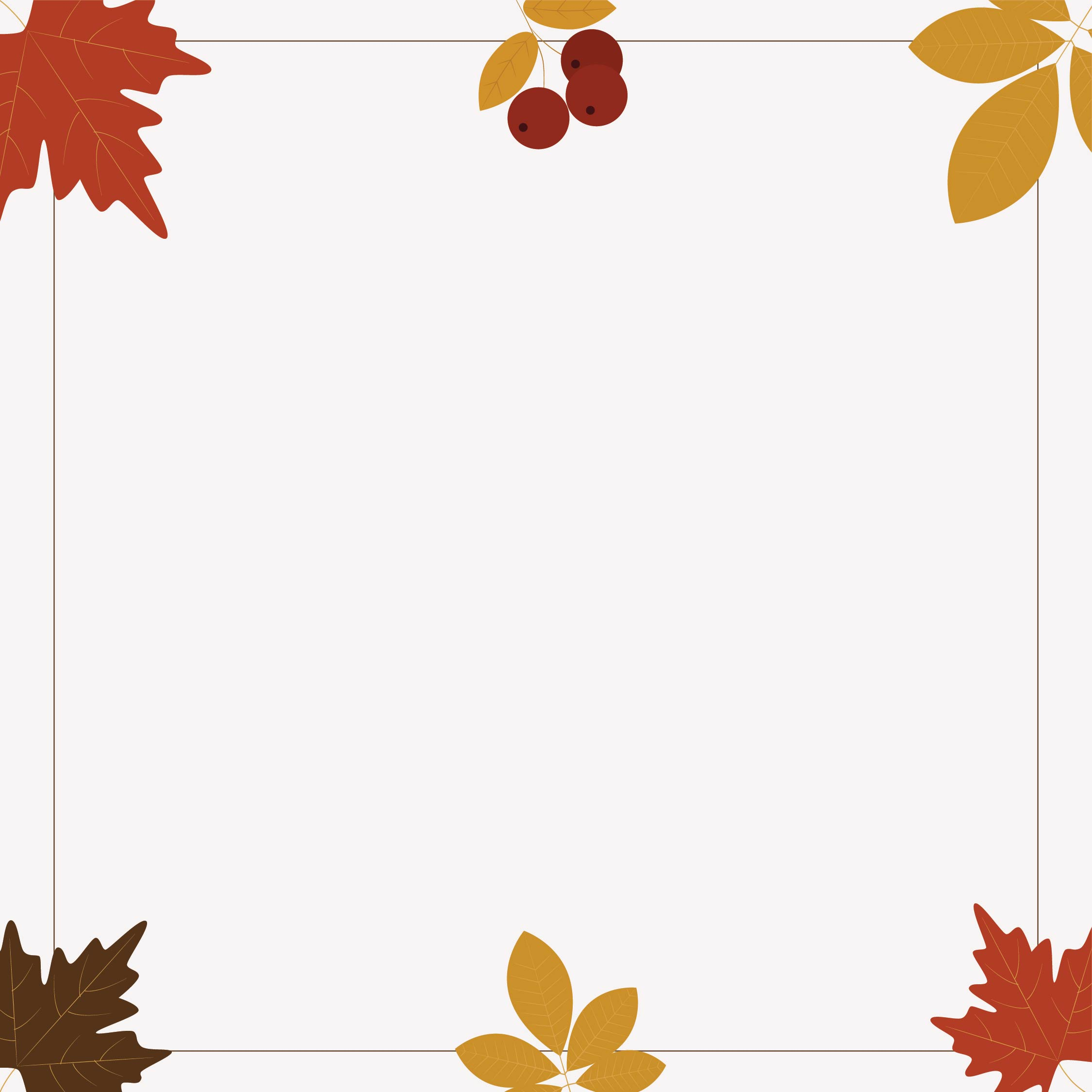 Printable Thanksgiving Clip Art Borders