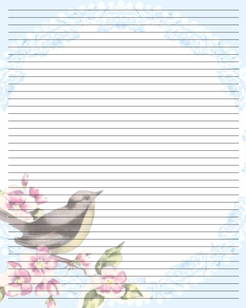 Bird writing paper