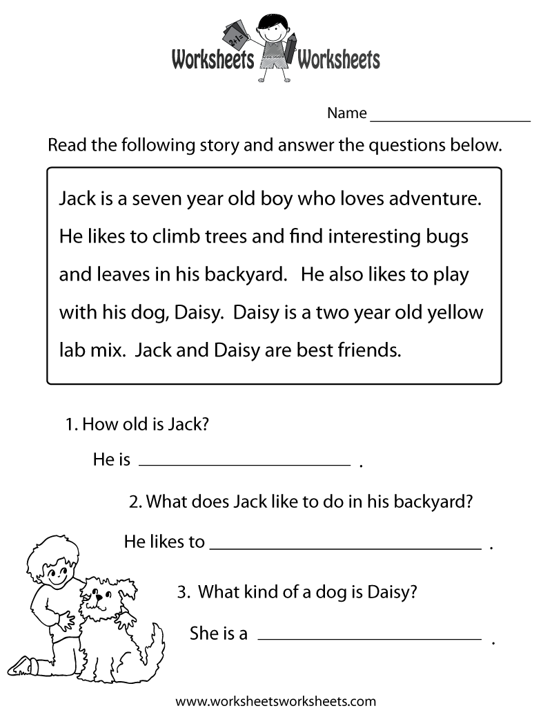math worksheet : 8 best images of first grade reading worksheets free printable  : Free Kindergarten Reading Worksheets