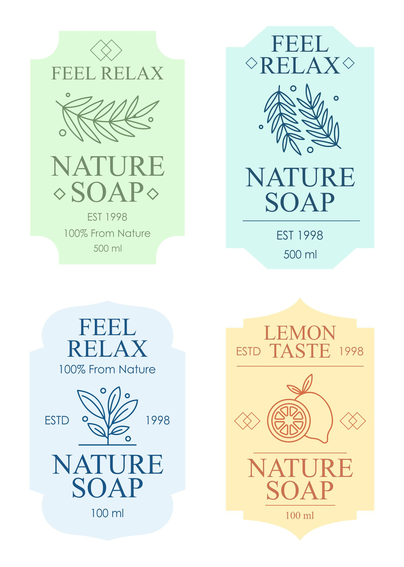 Free Soap Label Templates