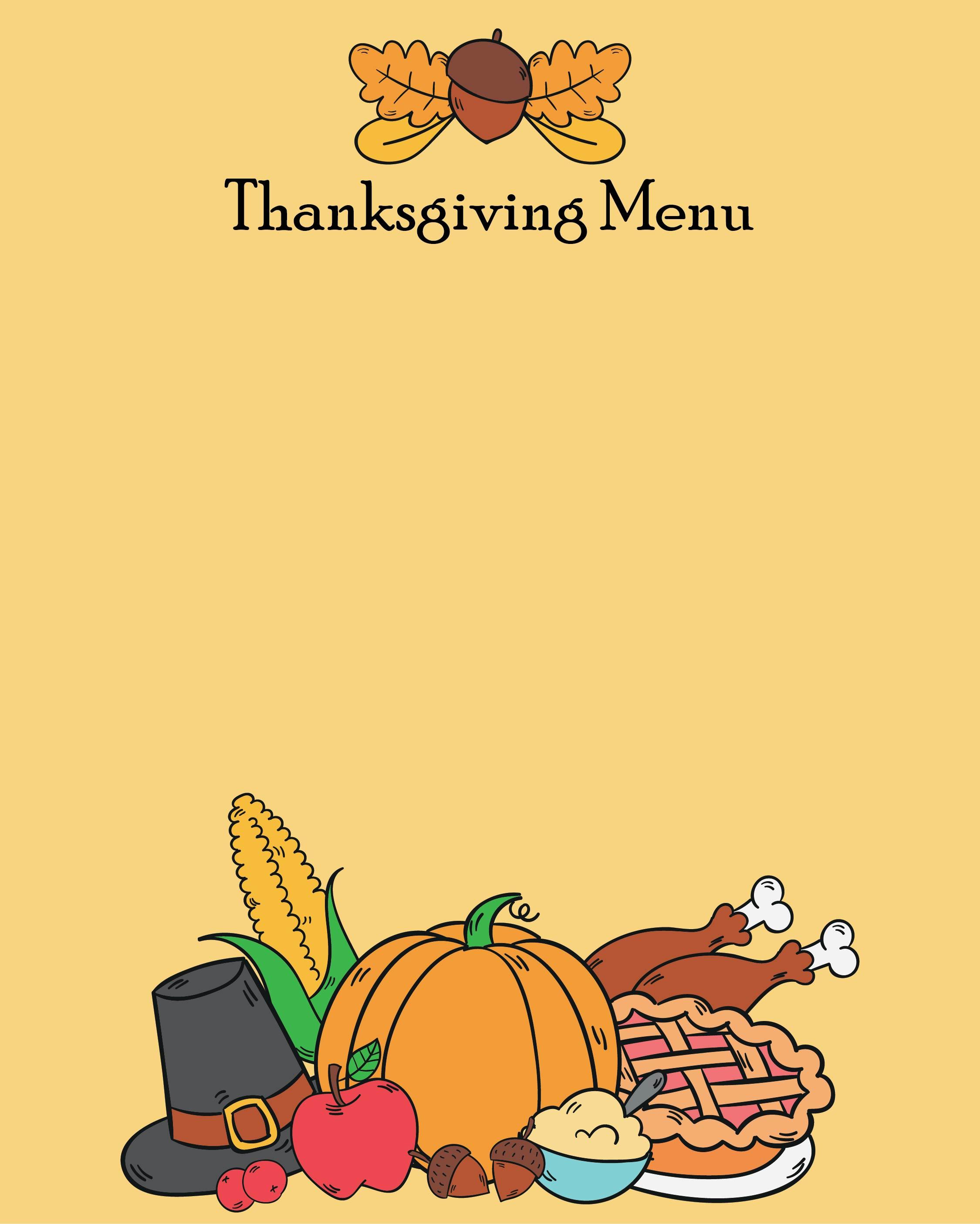 Thanksgiving Menu Planner