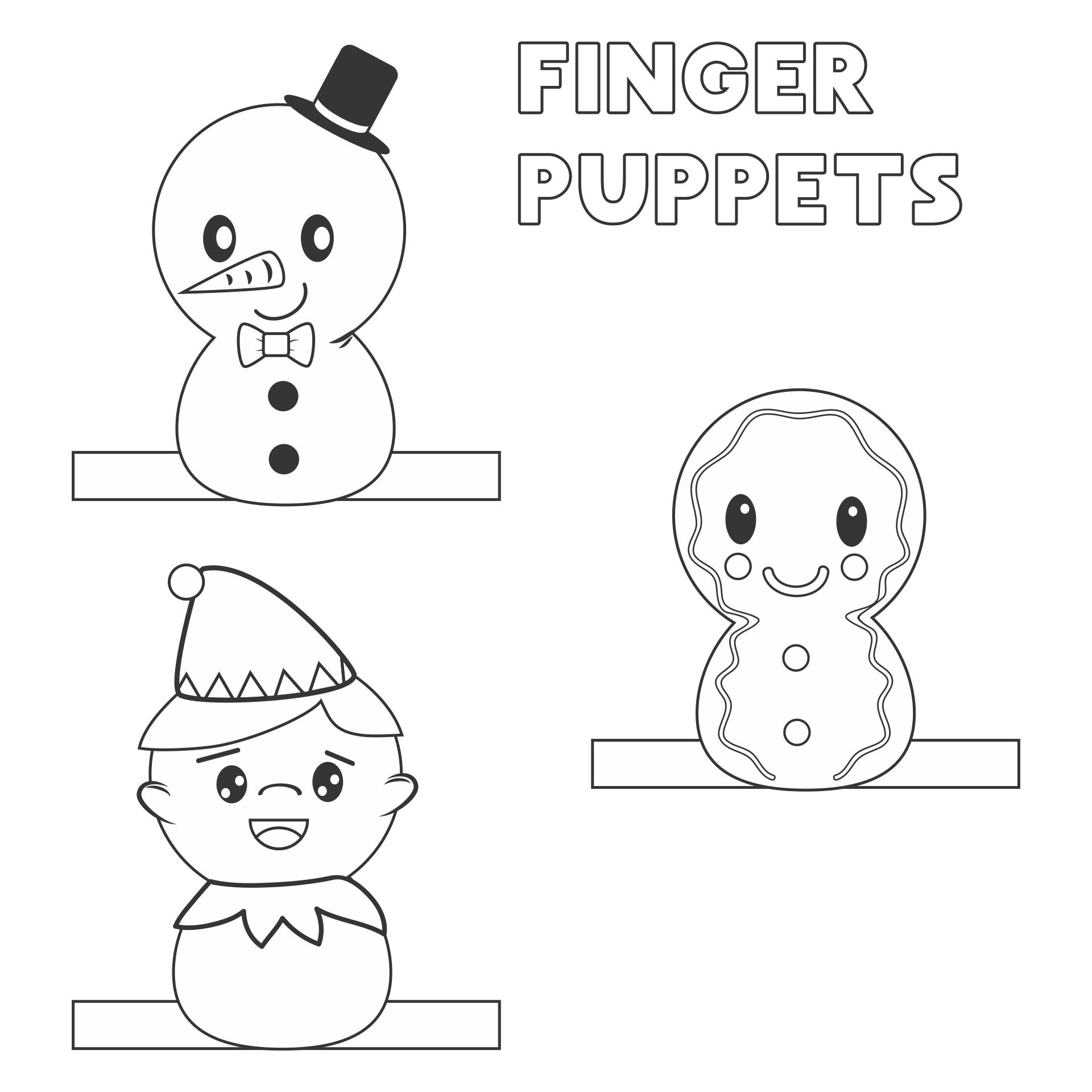 5 Images of Fun Christmas Crafts Printable