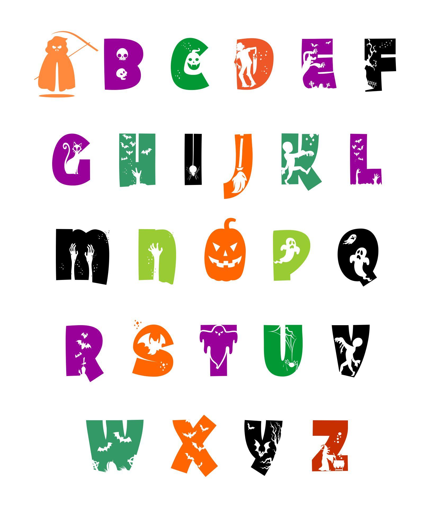 Halloween Clip Art Alphabet