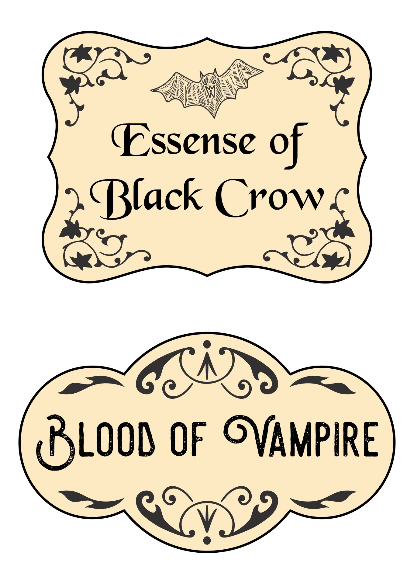 7 Images of Free Printable Halloween Potion Labels