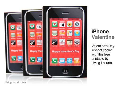 6 Images of Valentine's Printable Template For IPhone