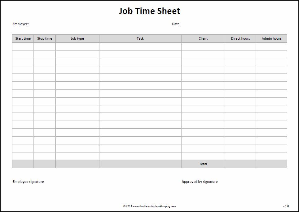 9 Best Images Of Free Printable Time Sheets Templates