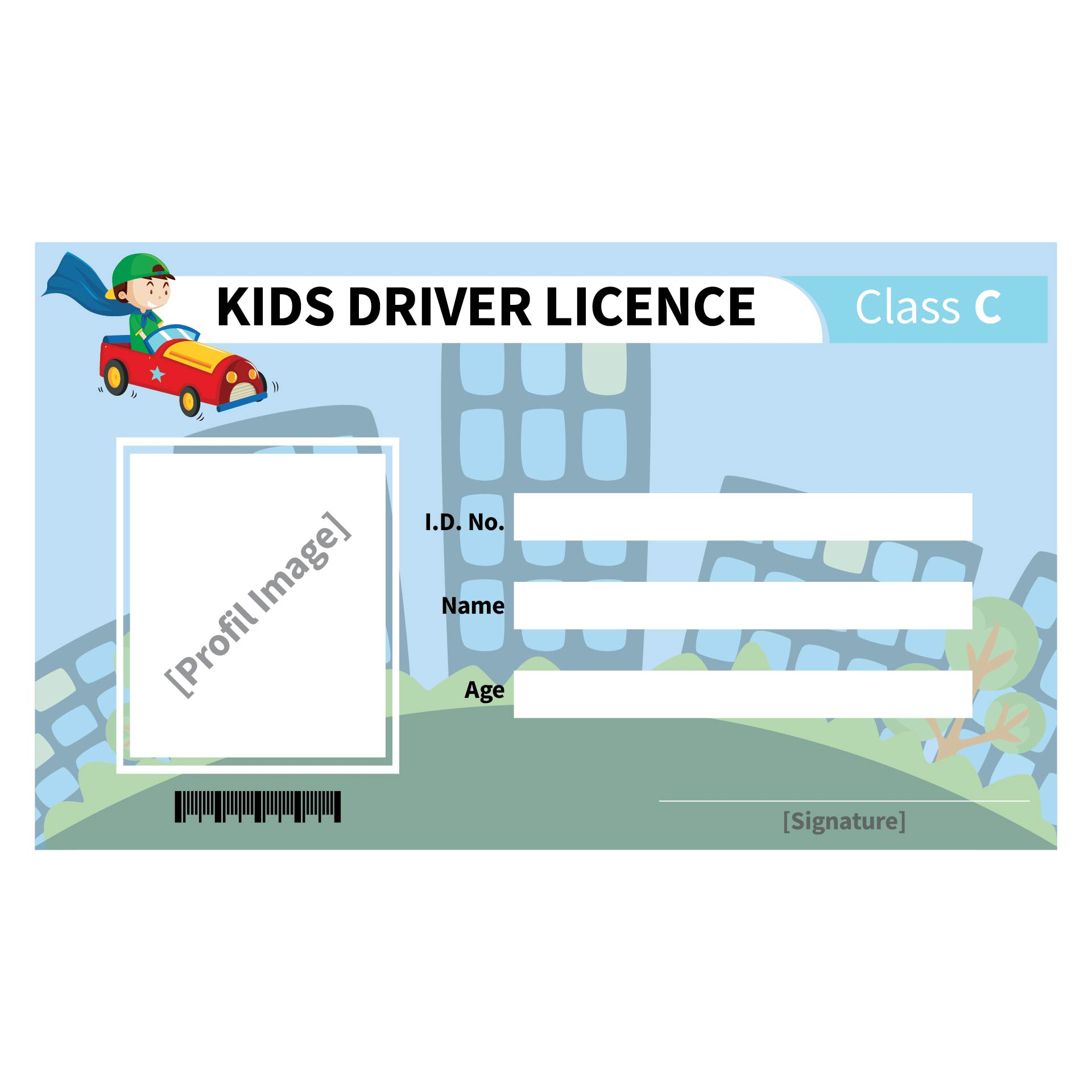Kids Drivers License Template