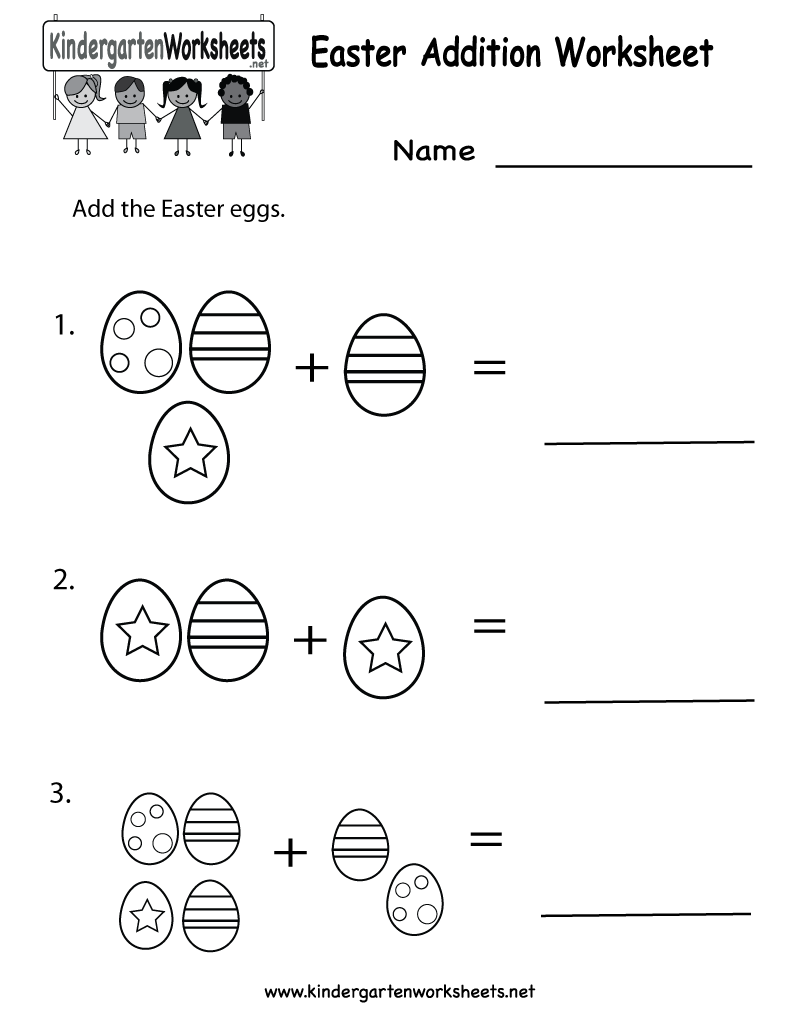 Printable Math Worksheets For Kindergarten Addition Worksheet – Addition Worksheet for Kindergarten