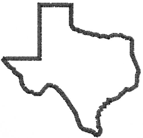 Large Texas Outline
