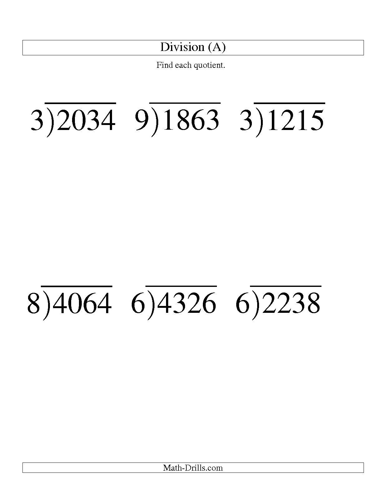 9 Best Images of Long Division Worksheets Printable - Printable ...Long Division with Remainders Worksheets