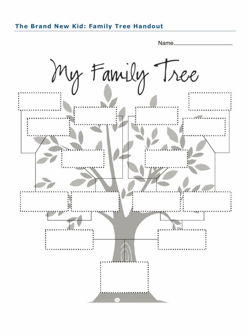My Family Tree Worksheet Printable
