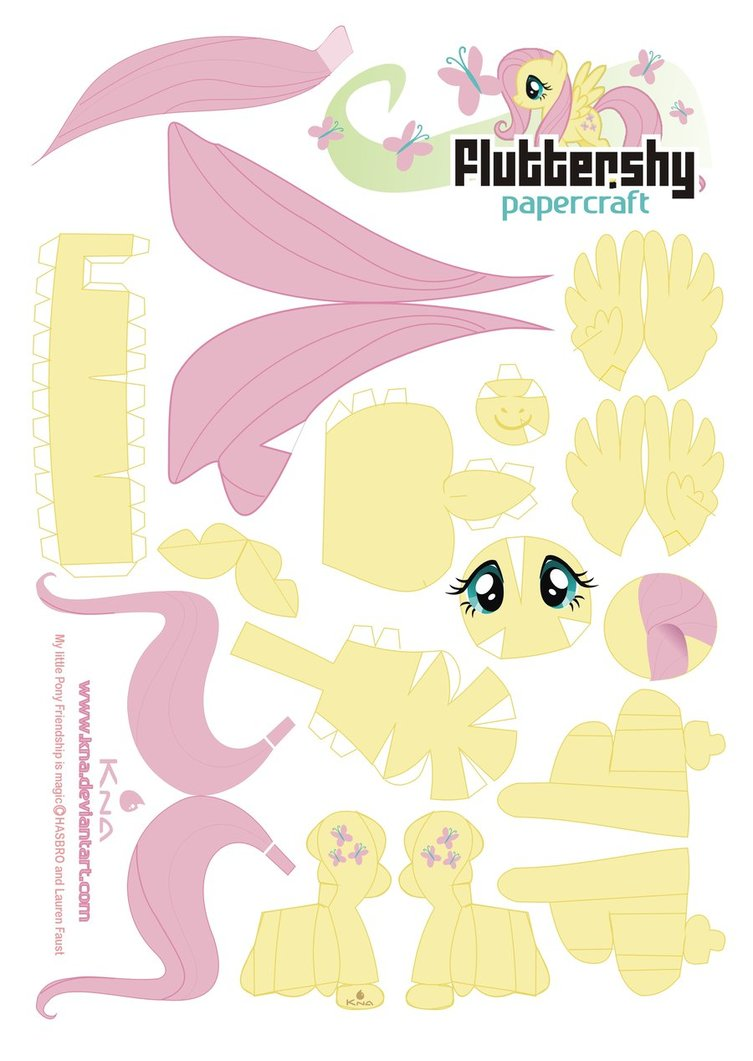 My Little Pony Papercraft Fluttershy
